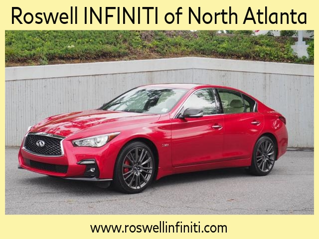 Certified Pre-Owned 2019 INFINITI Q50 Red Sport 400